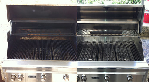 A Lynx BBQ grill that was just cleaned near San Francisco CA